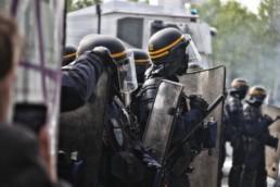 Polizei Ausschreitungen